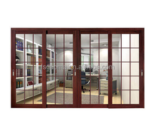Manufactury custom design Nigeria aluminium frame sliding glass window