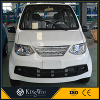 Smart 4 wheel solar electric car with 4 seat