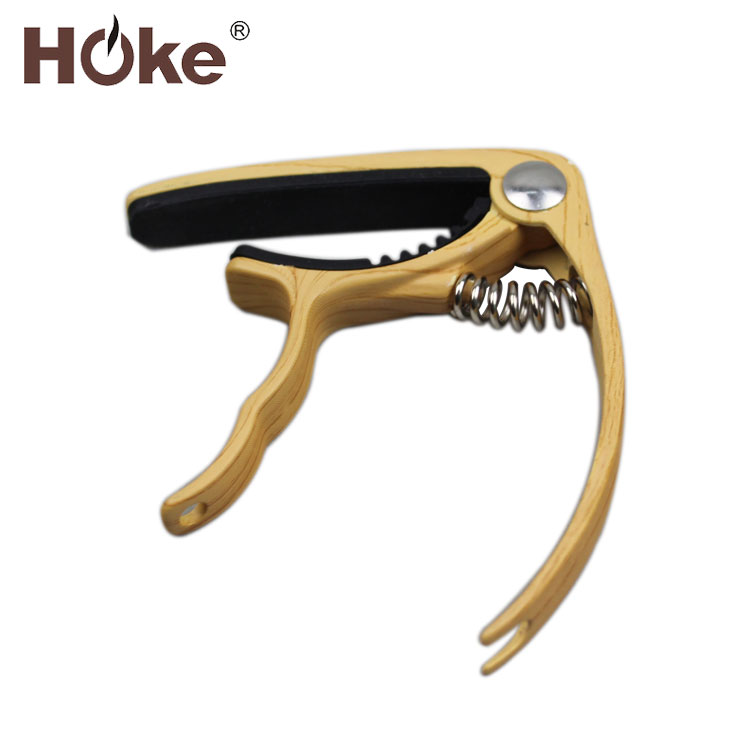 Chinese Supplier Custom Metal Wood Colour Folk Classic Acoustic Guitar Capo