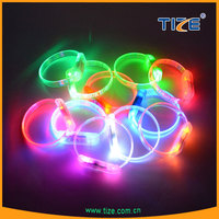 custom light up party sound activated wristband flashing led bracelets flashing toy wristband