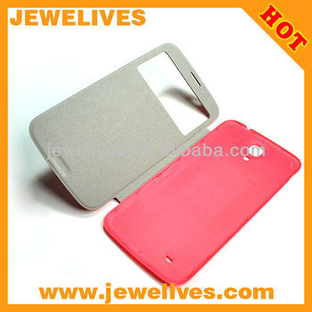 Factory price of leather flip for samsung galaxy NOT 3
