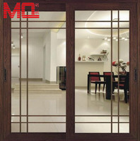 hot aluminium glass inserts double entry doors interior doors wholesale