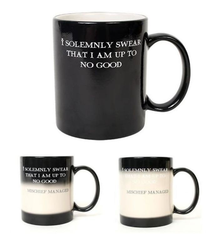 Black Harry Potter Color Change Mug/Harry Potter Magic Mug/Harry Potter Heat Sensitive Mug