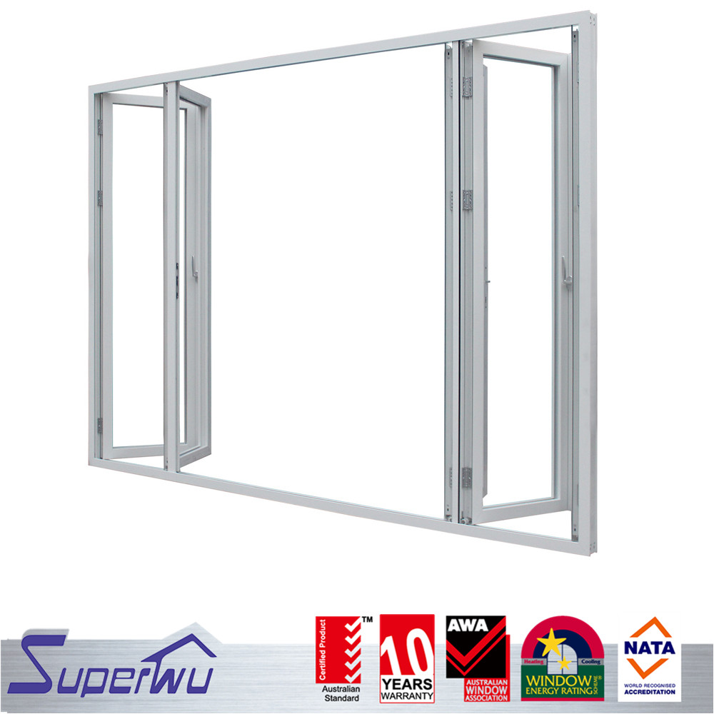 Stylish modern hot sales transparent aluminum bi-folding glass doors design