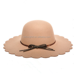 wool felt ladies' bowler floppy Hat