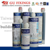 Epoxy glue cartridge for diamond drilled holes