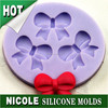 Nicole bow fondant silicone brand molds for cake decorating