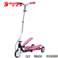 JS-088 Hot china sidecar Dual-pedal balance scooter kids toy with CE Children 3 Wheels Scooter
