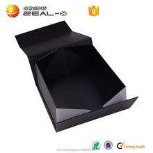 Ailbaba Shenzhen factory price matte black magnet folding shoes paper boxes