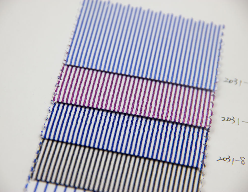 China Supplier fantastic cotton microfiber stripe shirting fabric