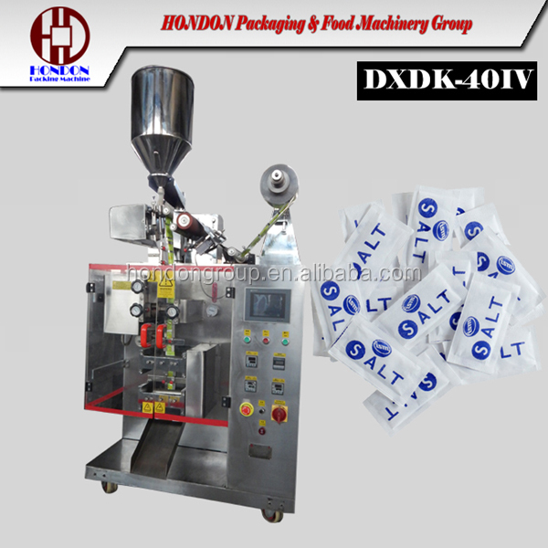 high speed salt sachet packing machine