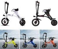 china 2016 new products portable foldable electric scooter bike, hand scooter, popular city 2 wheels electric scooter