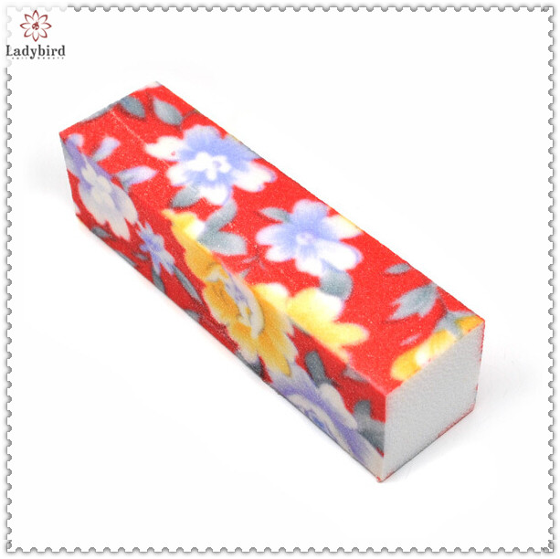 promotion Flowers design 4 ways nail sanding block for manicure and pedicure