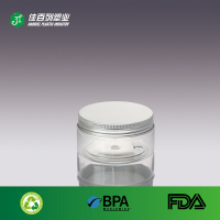 Wholesale price 1oz Clear cute empty PET Plastic cream container