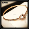 Shiny Star Bangle Rose Golden Plated