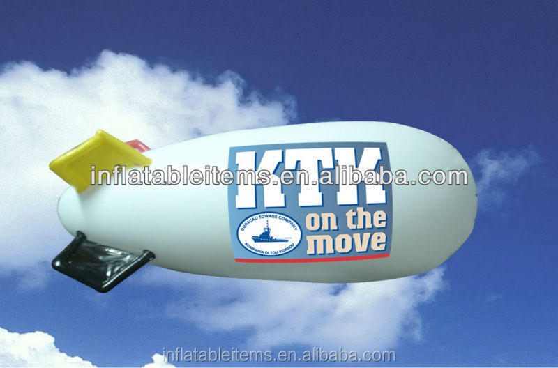 commercial advertising promotion inflatable sky helium airship / blimp balloon