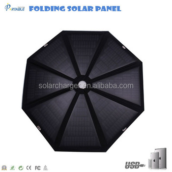 40w umbrella solar panel fabric for laptops, tablets, mobile phone