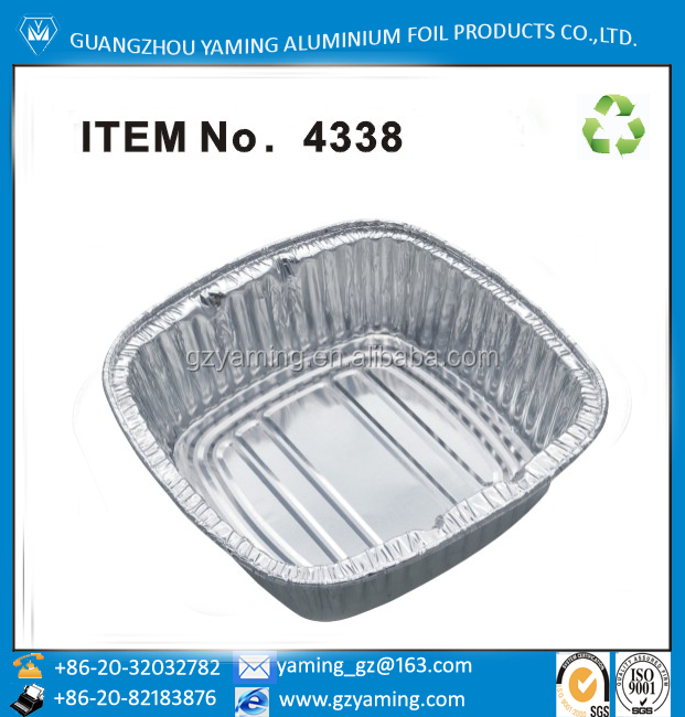 foil containers fast food disposable korea noodle packaging container aluminium foil fast noodle bowl with lid