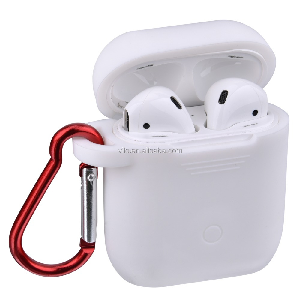 White Silicone Protective <strong>Cover</strong> For Airpod; For Airpod Accessories Silicone Case Full Protective - 2017 New