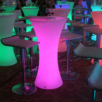 Color change plastic night club light up glowing remote control long led bar table