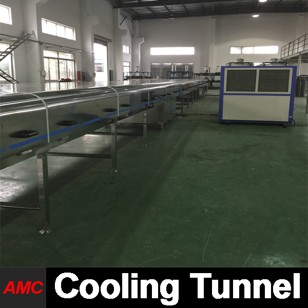 Mini Customize Stainless Steel sweet potato chips Cooling Tunnel Machine