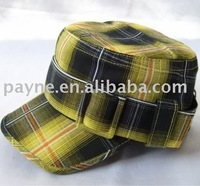 Mixed Stripe Plaid Pattern Jeep Cap