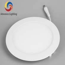 24w white aluminum round recessed led panel light