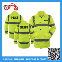 2015 OEM Police Reflective Jacket High Visibility Waterproof Fluorescent Safety Jacket for police