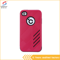 Popular waterproof colorful phone case for iphone4