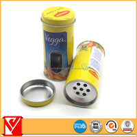 Small round spice packaging metal box,spice shaper canister