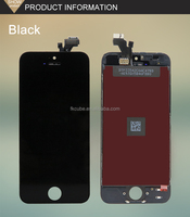 CUBE Wholesale Black White Front Glass Lens Touch Screen Digitizer For iPhone 5 phone outer screen glass manufacturer