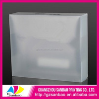 clear plastic printed shoe box