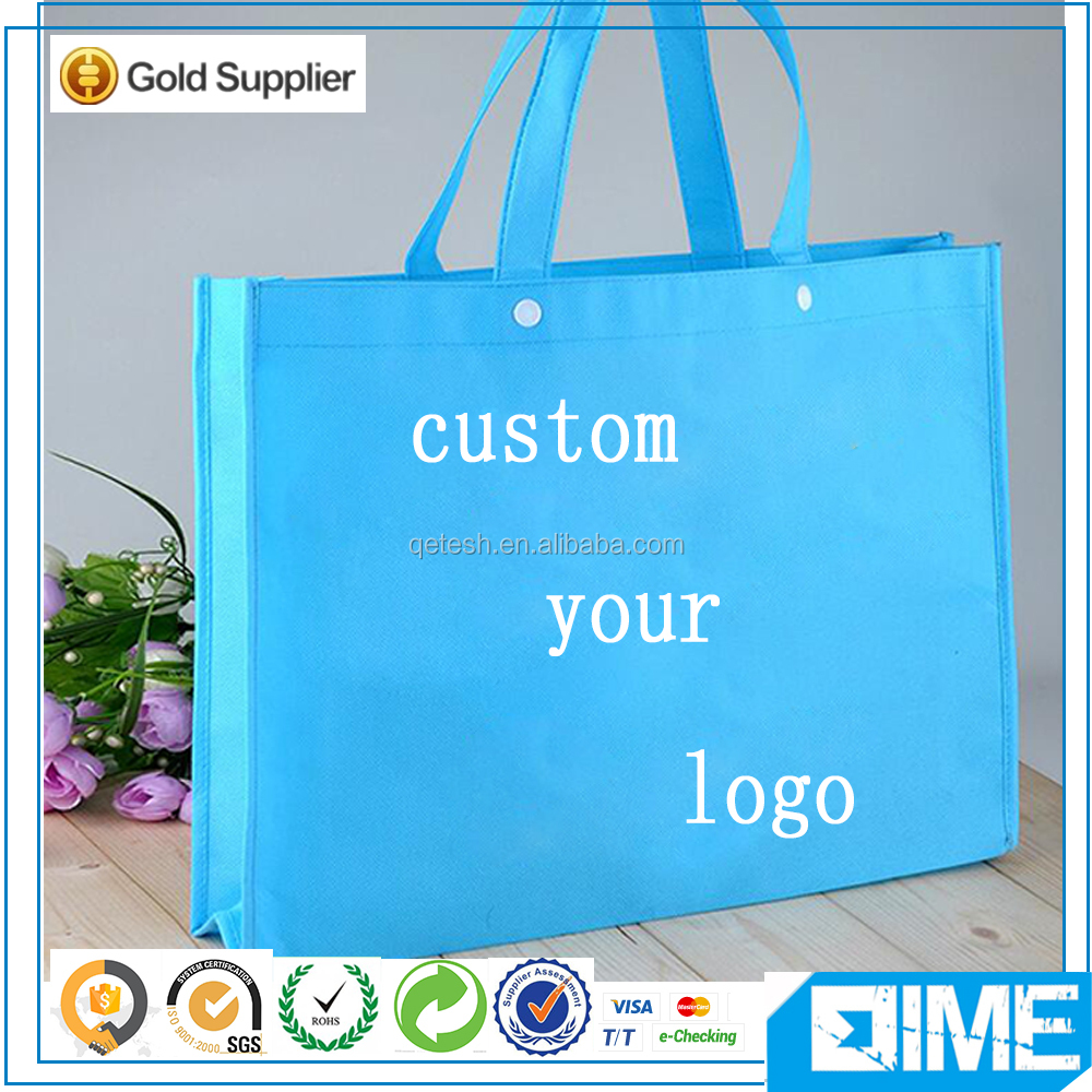 Custom Foldable Shopping Recycle Light Color Non Woven Bag