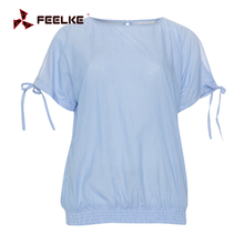 Striped ladies tops latest design ladies fancy cold shoulder tops