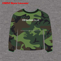 100 cotton fleece pullover camo sweatshirt with digital printing