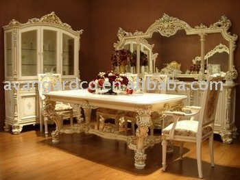 European style dining room suite