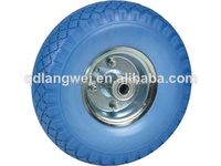 "wheelbarrow tyre 480/400-8 and 3.00-4 pu wheels 10"" flat free tire for hand trolley scooter and kid toy wheelbarrow tyre 480/400"