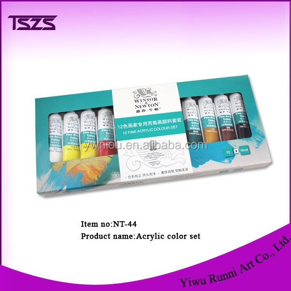 12 Color wholesale Acrylic Paint Tube Set for DIY false nail tips NT-43