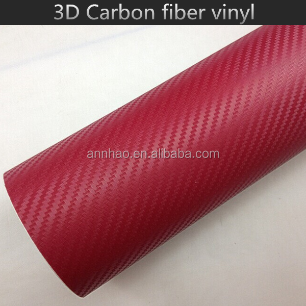 1.52*30m Air Bubble Channel 3D Carbon Fiber Vinyl Wrap Rolls Motorcycle
