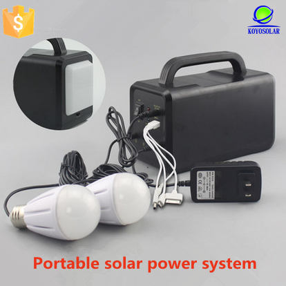 high quality portable solar power lighting system for small home appliance