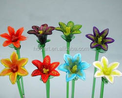 hot sale high quality hand blown glass flowers