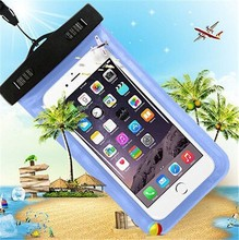 Universal Szie Transparent PVC Waterproof Mobile Phone Case Waterproof Phone Bag Waterproof Case for iphone 6 6s plus 7 7plus