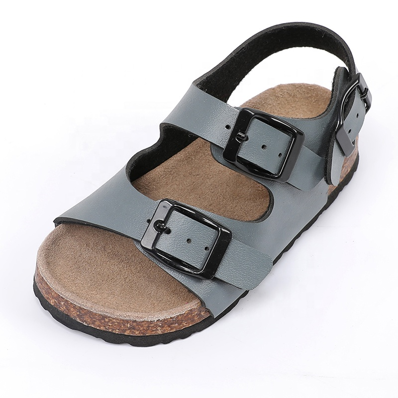 2019 Best selling Fashion Buckle Strap Leather insole Children Kids Boys <strong>Sandals</strong>