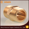 customize Male Thread Brass pipe fitting hex nipple