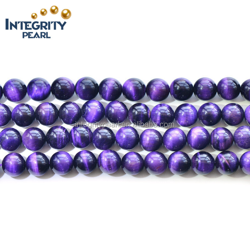 6-12mm natural optimized purple tiger eye precious stones