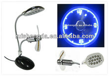 usb desk light and fan / usb light with clock fan for laptop