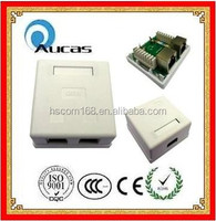 Single/dual port rj45 surface mount jack/wall mount box/junction box China Supplier