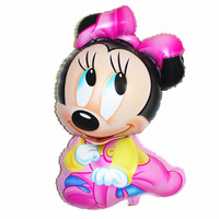 New Design Minnie Mouse Shaped Helium Foil Balloons,Kids Toys Minnie Mouse Balloon,Birthday Party Mickey Mouse Balloon