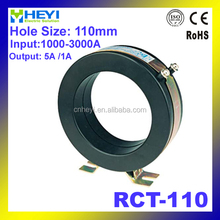 Bigger capacity single phase indoor current transformer RCT-110 input 1000-3000A shield current transformer