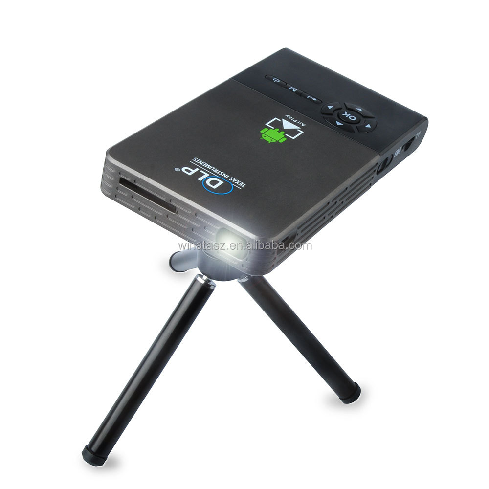 C2 Mini <strong>Projector</strong> DLP 8G/16G/32G Android 4.4 RK3128 5G Wifi 30-120 inch 5000mAh Battery Pocket Video Home Theater <strong>Projector</strong>